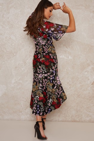 Chi Chi London Black Jorja Premium Dress