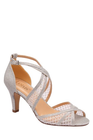 Lotus Footwear Silver Occasion Cross Strap Open Toe Sandal