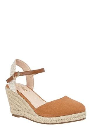 Lotus Footwear Brown Espadrille Wedge Heeled Sandal