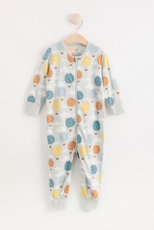 Lindex Blue Balloon Zip Sleepsuit (Baby)