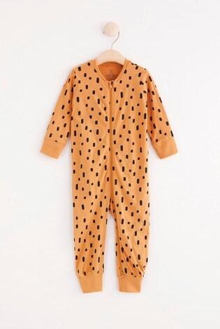 Lindex Brown Zip Sleepsuit (Baby)