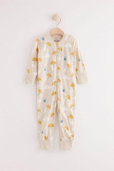 Lindex Pink Bunny Zip Sleepsuit (Baby)