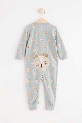 Lindex Navy Zip Sleepsuit (Baby)