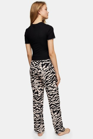 Topshop Monochrome Zebra Jersey PJ Set