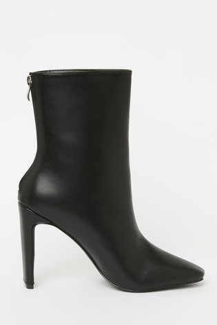 Raid Black Thin Heel Ankle Boot