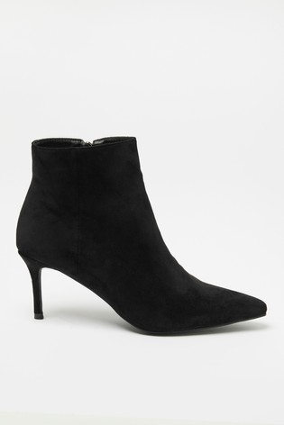 Raid Black Suedette Pointed Toe Boot