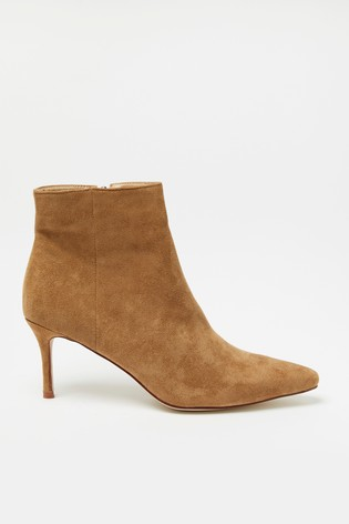 Raid Brown Suedette Pointed Toe Boot
