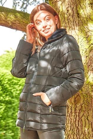 Roman Black Originals Short Zip Through Padded Coat