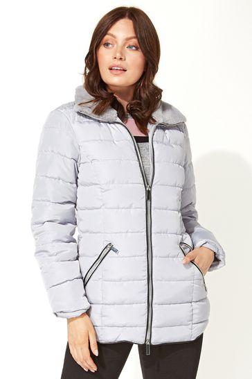 Roman Grey Originals Short Zip Through Padded Coat