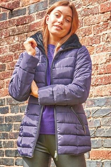 Roman Purple Originals Short Zip Through Padded Coat