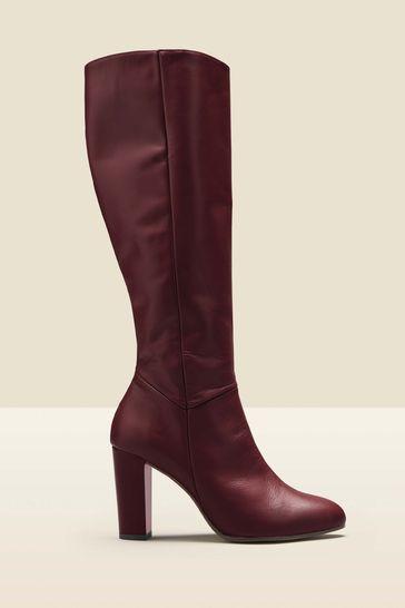 Sosandar Red Knee High Boot