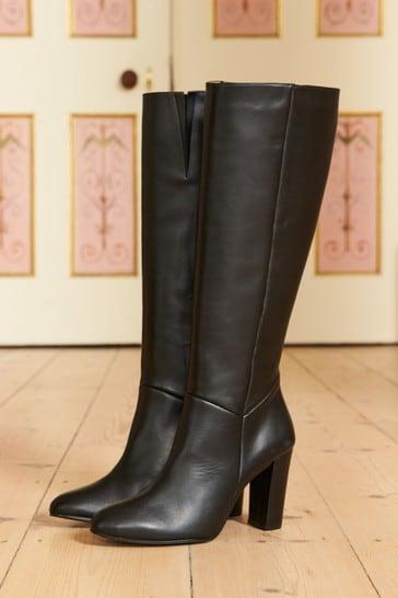 Sosandar Black Knee High Boot