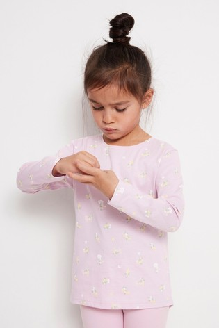 Lindex Pink Kids Printed Long Sleeve T-Shirt