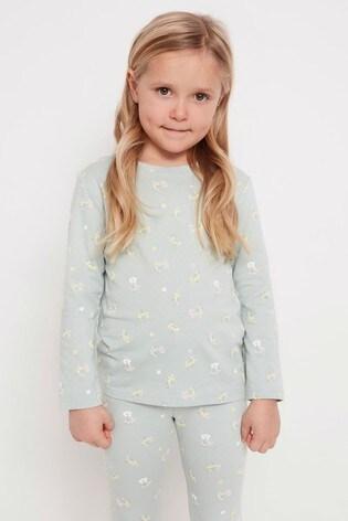 Lindex Green Kids Printed Long Sleeve T-Shirt