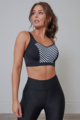 Pour Moi Black Energy Lightly Padded Underwired Sports Bra GG+