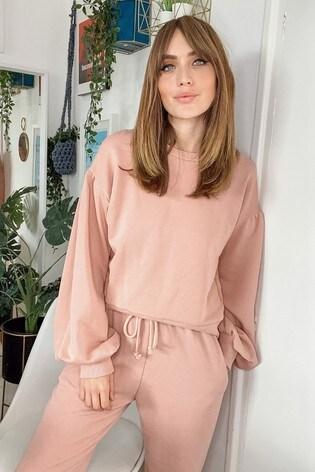 Little Mistress Pink Balloon Sleeve Longewear Sweatshirt