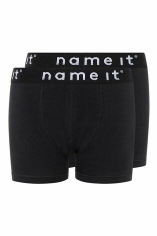 Name It Black 2 Pack Logo Pants