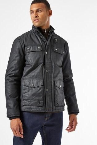 Burton Black 4 Pocket Wax Jacket