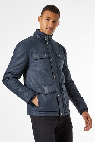 Burton Navy 4 Pocket Wax Jacket