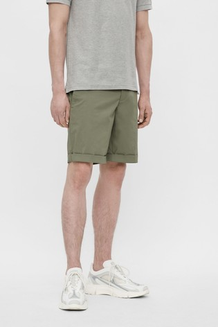 JLindeberg Khaki Cotton Chino Golf Shorts