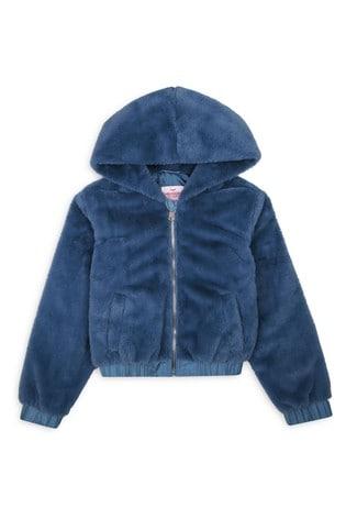 Threadgirls Blue Faux Fur Jacket