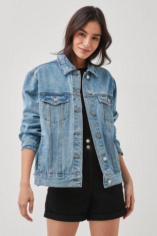 Missguided Blue Oversized Denim Jacket