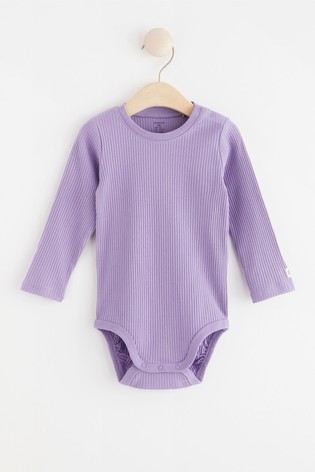 Lindex Dusty Lilac Baby Long Sleeved Bodysuit