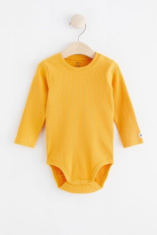 Lindex Baby Yellow Long Sleeved Bodysuit