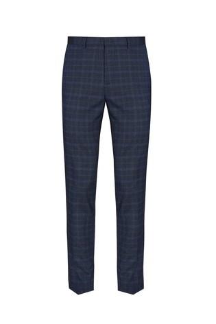 Burton Blue Check Trousers