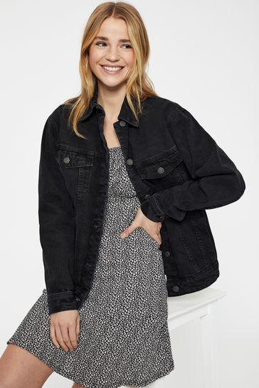 Vero Moda Black Oversized Denim Jacket