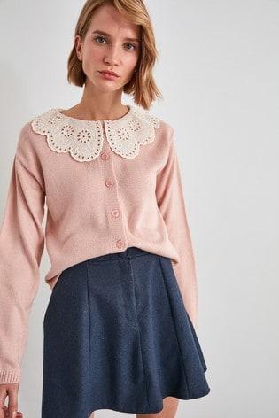 Trendyol Pink Oversized Collar Jumper