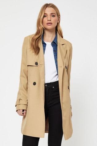 Vero Moda Ivory Trench Coat