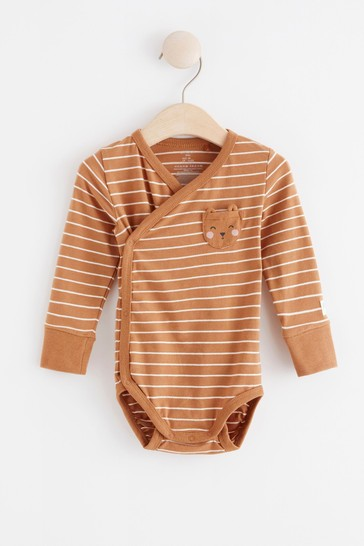 Lindex Rust Baby Wrap-Over Bodysuit