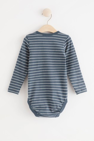 Lindex Dusty Blue Baby Long Sleeved Bodysuit