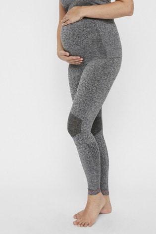 Mamalicious Grey Maternity Gym Leggings