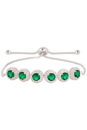Jon Richard Green Emerald Green Pave Toggle Bracelet