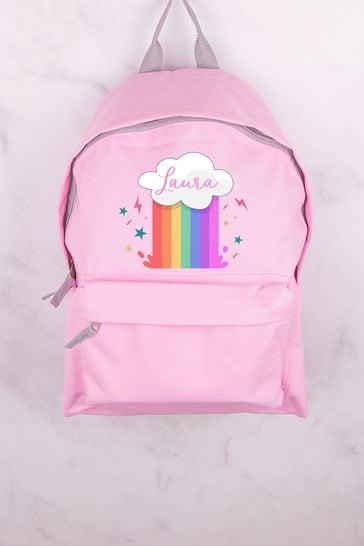 Personalised Rainbow Cloud Backpack by Loveabode
