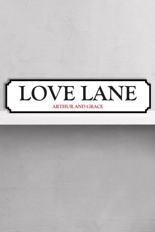 Personalised Love Lane Sign By Loveabode