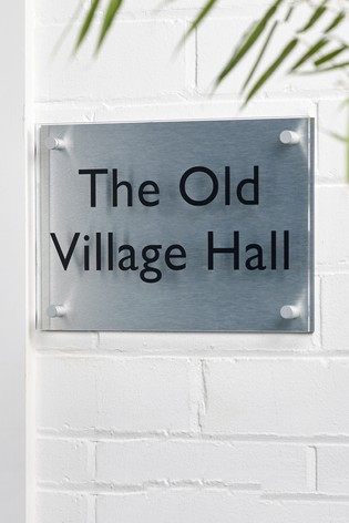 Personalised Langham Contemporary House Sign by Loveabode