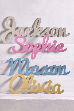 Personalised Mirrored Acrylic Long Name Sign by Loveabode
