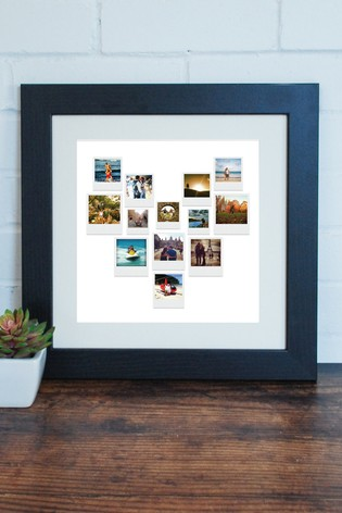 Personalised Photo Upload Retro Heart Print by Instajunction