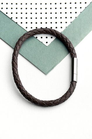 Personalised Cedar Woven Bracelet by Treat Republic