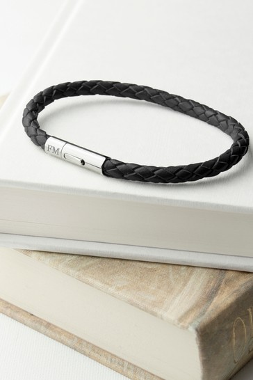 Personalised Leather Bracelet by Treat Republic