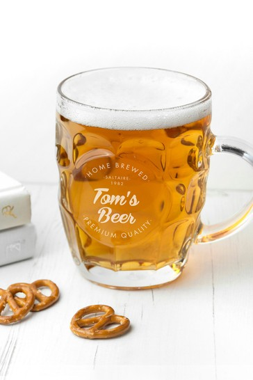 Personalised Dimpled Beer Glass by Treat Republic