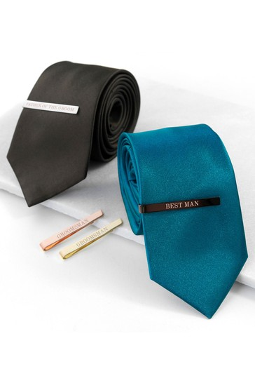 Personalised Groomsmen Tie Slide by Treat Republic