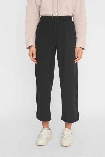 Noisy May Black Stretch Cropped Trousers