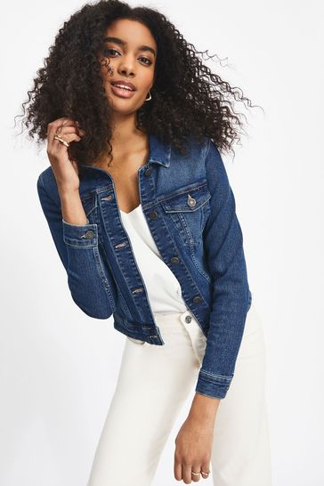 Noisy May Blue Fitted Denim Jacket