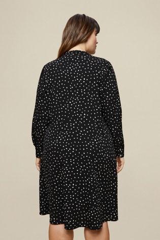 Dorothy Perkins Spot Print Curve Shirt Dress