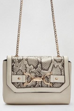 Dorothy Perkins Cream Snake Snaffle Camera Bag