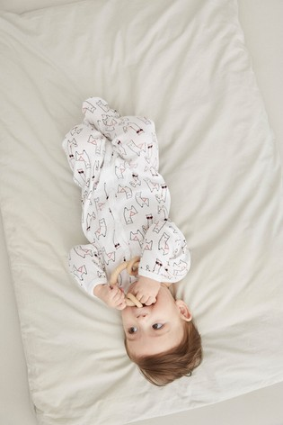 Name It White Pink and Red 2 Pack Long Sleeve Sleepsuit